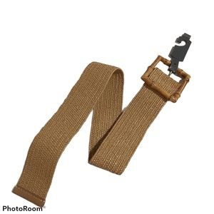 4th & Union Belt faux braided straw bamboo buckle